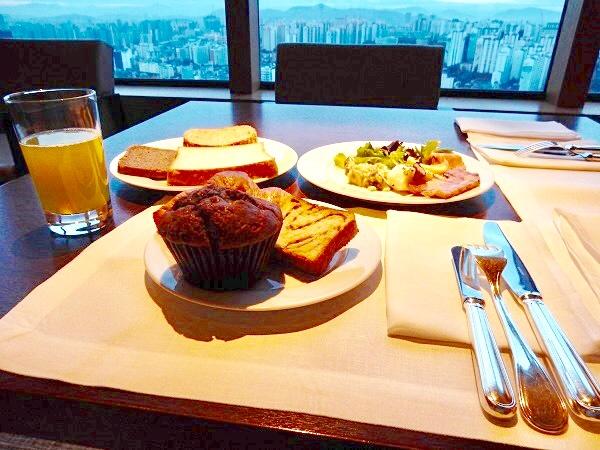 新羅ホテル,エグゼクティブラウンジ,宿泊記,ブログ,朝食